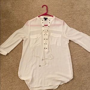 Cream dress shirt